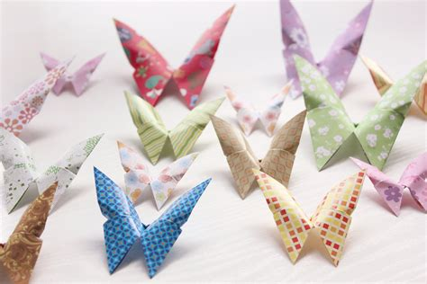 Paper butterfly origami is very easy to make. 120 Origami Butterflies Japanese 3D Paper Butterfly Wall ...