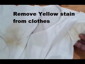 remove yellow stain from clothes youtube