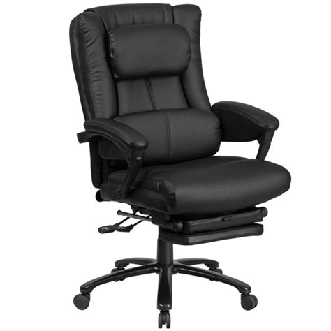 office chair back support flash furniture high back black leather executive 24479