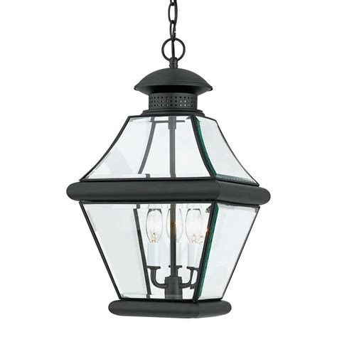 lantern pendant light black shop quoizel rutledge 19 in mystic black outdoor pendant