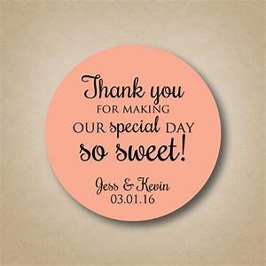 Thank you stickers wedding favor stickers special day so sweet for Stickers for wedding favors