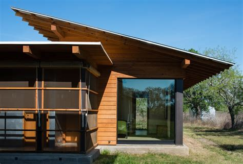 butterfly roof shed overhang exterior modern with screened