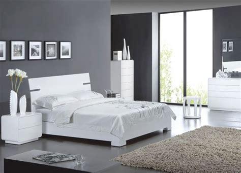 chambre grise et blanche décoration chambre gris décoration
