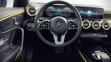 Brushed aluminum with longitudinal grain. 2020 Mercedes Benz CLA Class Interior