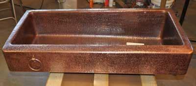 mountain rustic copper farm single basin trough copper sink