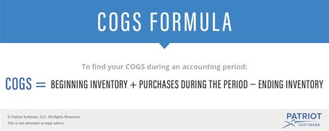 cost of goods sold cogs definition formula more
