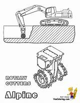 Coloring Construction Pages Mining Skidder Clip Cutters Excavator Log Digging Template Yescoloring Machine Rock Alpine Rotary sketch template