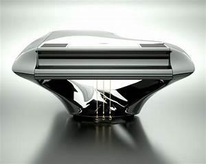 Hungarian Musician Reveals Futuristic Carbon Fibre Piano