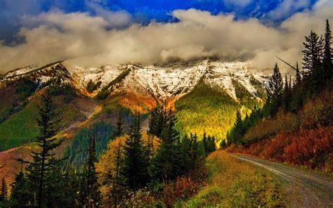 dirt road   mountains fond decran hd arriere plan