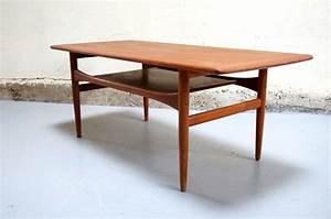 Table Basse Année 50 : table basse scandinave arrebo mobler danois vintage danish teck ann es ann e 50 60 mad men ~ Teatrodelosmanantiales.com Idées de Décoration