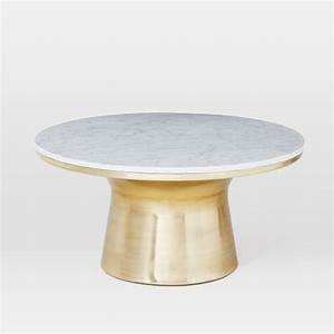 marble topped pedestal coffee table west elm With west elm marble top coffee table