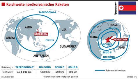 nordkorea macht raketen scharf ausland badische zeitung