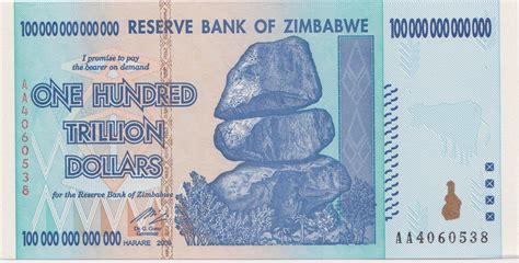trillion dollar zimbabwe banknote zimbabwedollarsnet