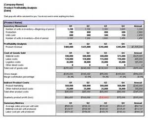 Free Excel Timesheet Templates Product Profitability Analysis