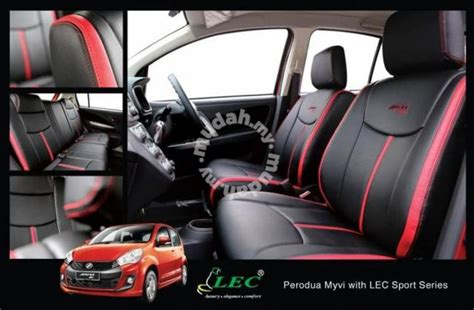 myvi lec seat cover sports series   car