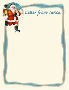 Holiday letter border clipart 64 for Generic letter from santa