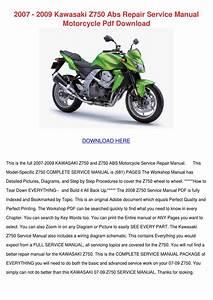 2007 2009 Kawasaki Z750 Abs Repair Service Ma By