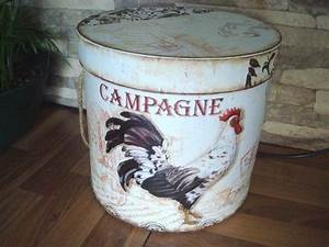 Boite Ronde Blanche : bo te ronde blanche campagne au coq d co campagne pinterest le coq coq et campagne ~ Teatrodelosmanantiales.com Idées de Décoration