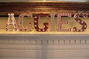aggies wooden vintage mantle shelf letters for texas a 56 With mantle letters