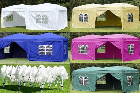 outdoor ez pop  tent folding gazebo wedding party canopy  sides ebay