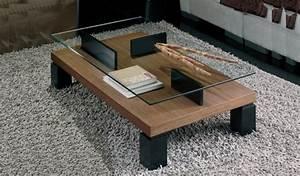 Table Basse Verre Bois : la table basse design en 33 exemples uniques ~ Teatrodelosmanantiales.com Idées de Décoration