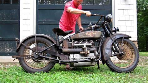 1928 Henderson Deluxe Antique Motorcycle Running