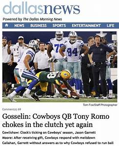 Your Monday Morning Roundup: Romo Sucks Edition – Crossing ...