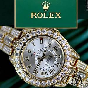 Rolex Diamond Rolex Sky Dweller 18k Yellow Gold 42mm