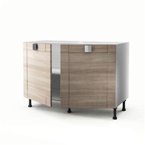 meuble cuisine sous evier meuble de cuisine sous évier décor chêne 2 portes karrey h