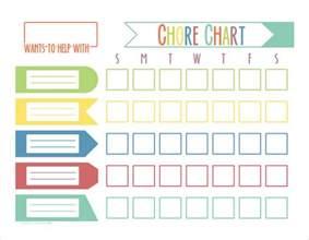 Kids Weekly Chore Chart Templates