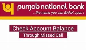 Check PNB Account Balance Through Missed Call ...