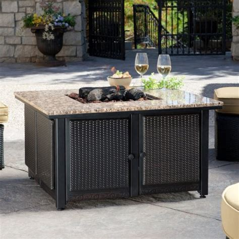 uniflame pit uniflame granite table propane pit