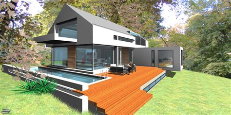 Moderne Häuser Mit Satteldach Am Hang by Designhaus Satteldach Moderne Architektur Glash 252 Tten