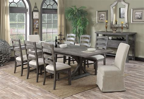paladin rustic charcoal dining room set  emerald home