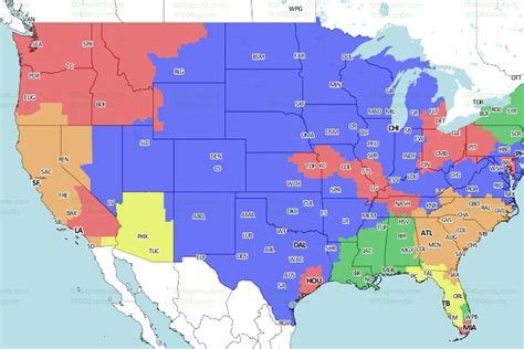 nfl week  broadcast map turf show times