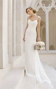 Asymmetrical Dress Designs Wedding Dresses Sheath Wedding Gown With Straps Stella