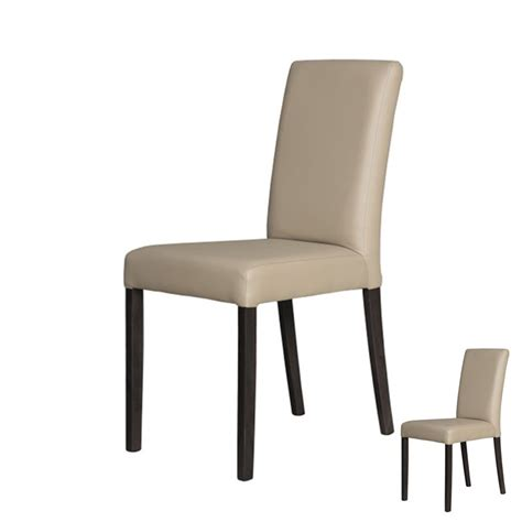 chaises simili cuir duo de chaises simili cuir taupe univers assises