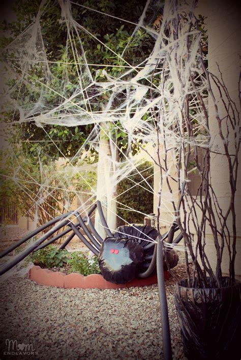 diy yard decorations diy halloween yard decor giant spider in spiderweb