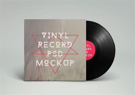 vinyl record psd mockup graphicburger