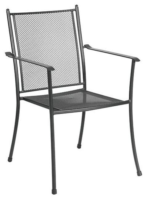 cambridge steel stack mesh chair contemporary outdoor