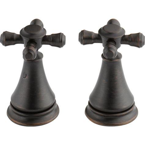 delta pair of cassidy metal cross handles for bathroom