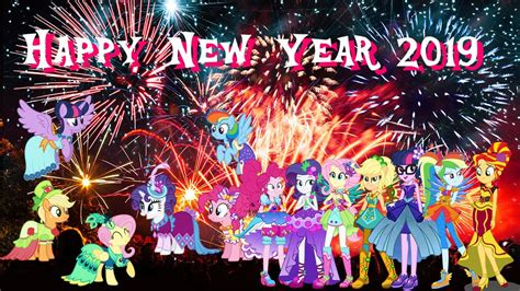 ponies happy  year  picture   pony pictures pony pictures mlp pictures
