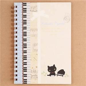 Cahier De Note : cahier spirale ray kutusita nyanko avec des notes de musique un piano san x bloc notes ~ Teatrodelosmanantiales.com Idées de Décoration