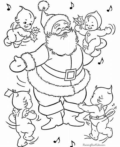 Santa Coloring Pages Claus Printable