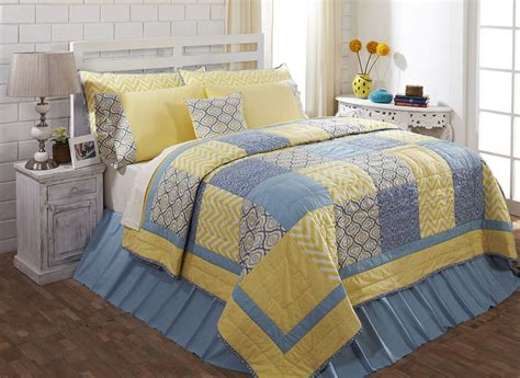 Yellow Quilted Coverlet by Caledon King Quilt 100 Cotton Quilted Bedspread Yellow