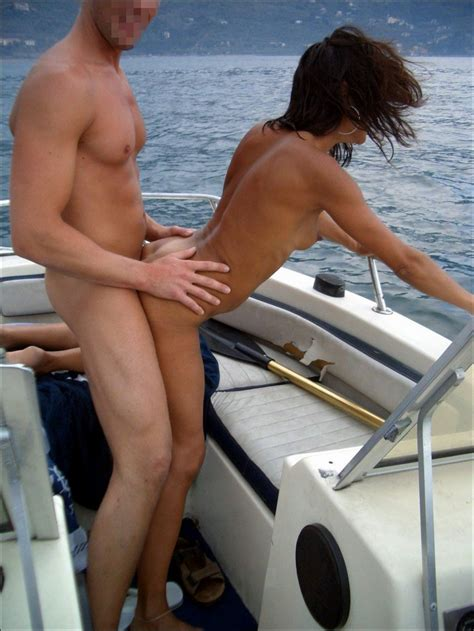 Black Haired Slim Italian Milf Gets Her Pussy Fucked On A Boat In The Sea