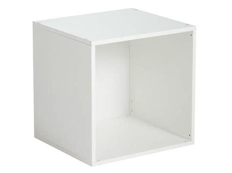 desserte rangement cuisine etagère cube en bois l35cm personnalisable multikaz blanc