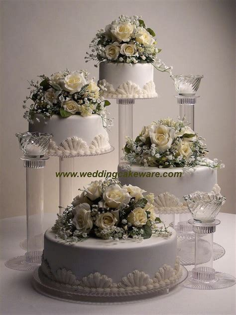 tier cascading wedding cake stand stands  tier candle stand set ebay