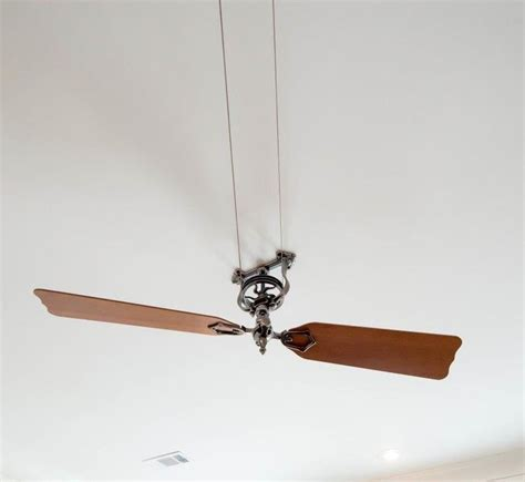 antique looking ceiling fans vintage style belt driven ceiling fan with wooden blades