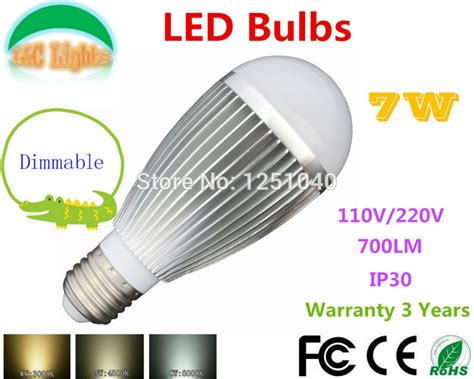 factory direct sales dimmable 7w led bulbs 110v 220v led